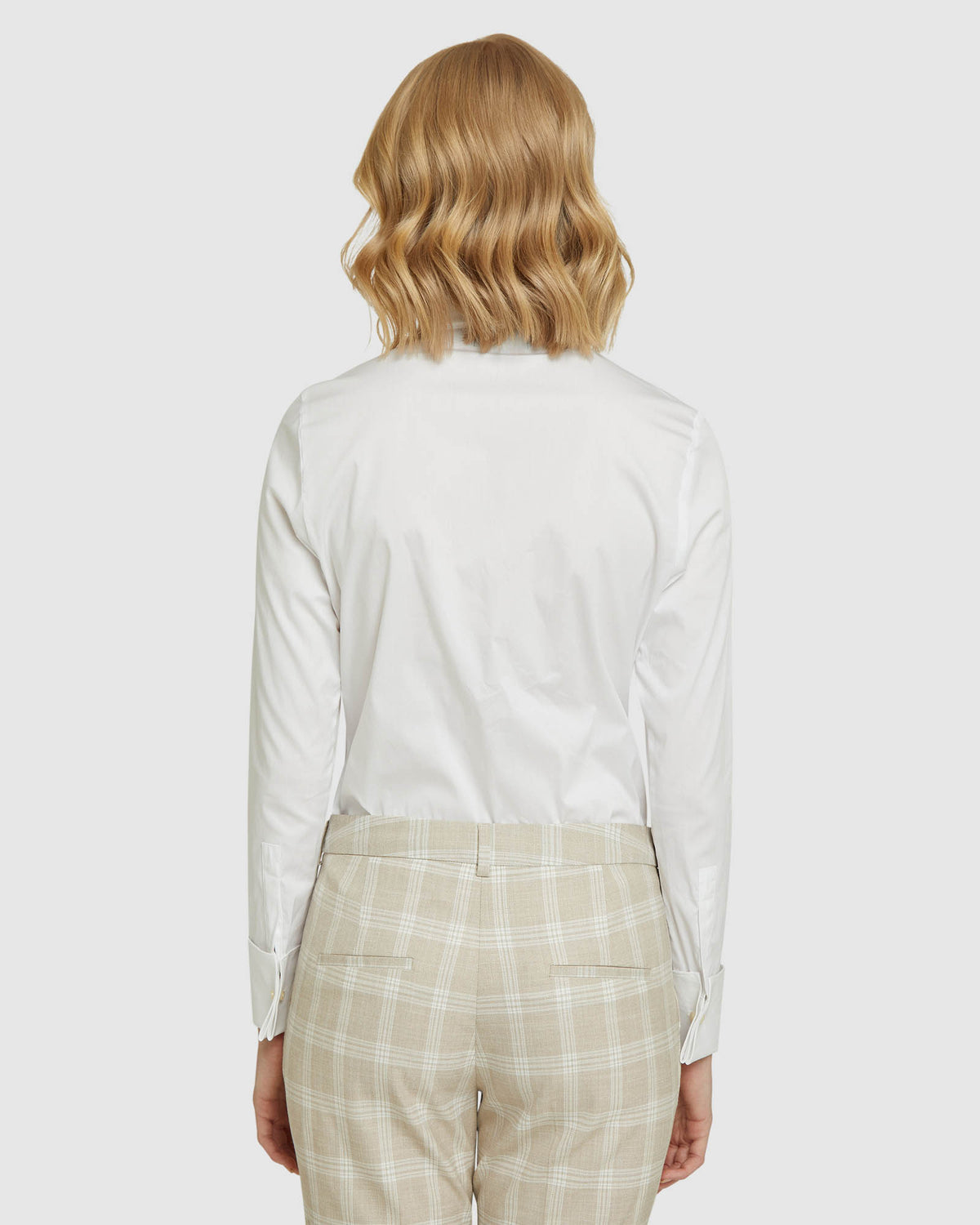 ANGEL FRENCH CUFF STRETCH SHIRT WHITE