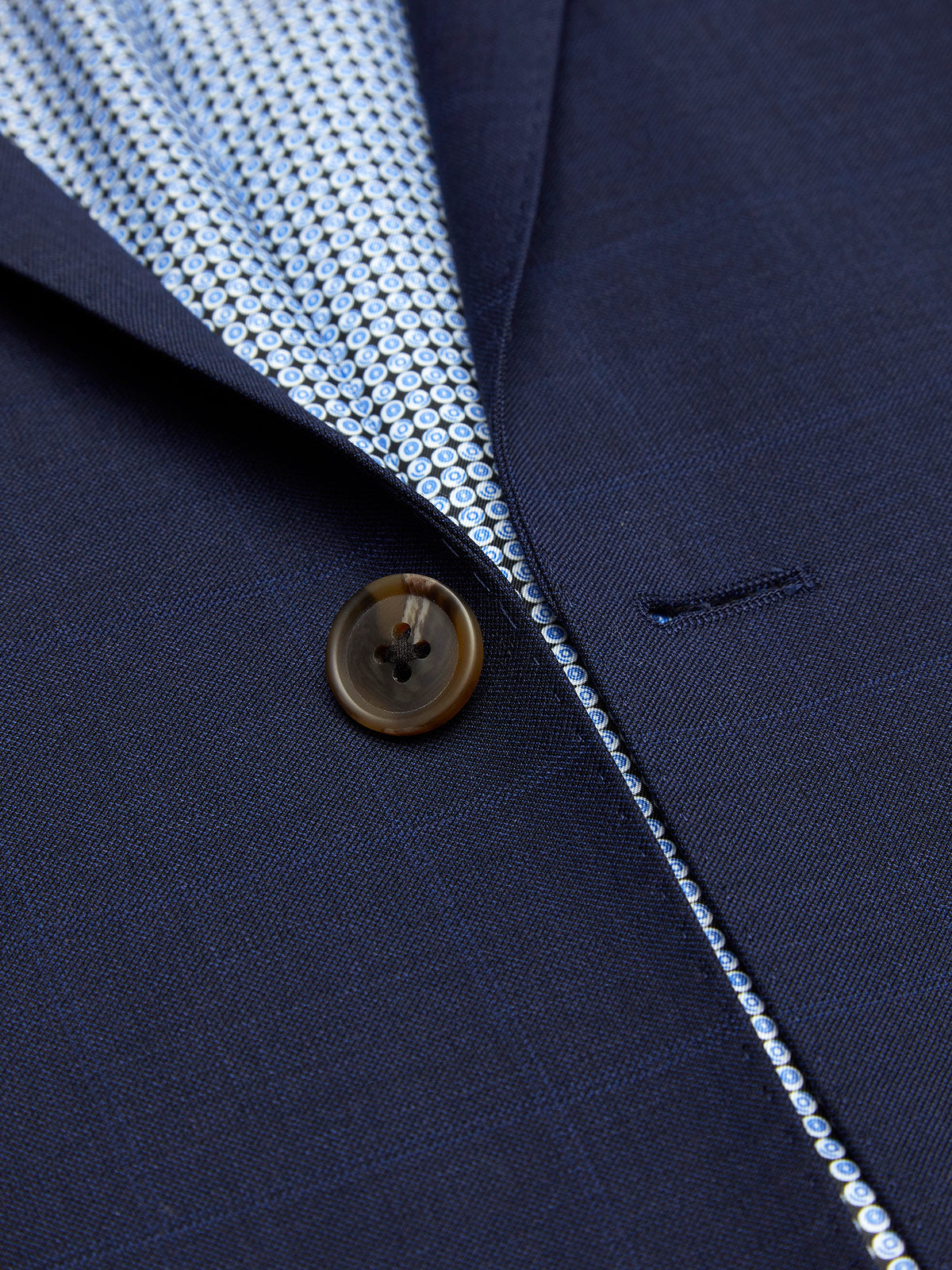 NEW HOPKINS WOOL BLEND SUIT JACKET NAVY