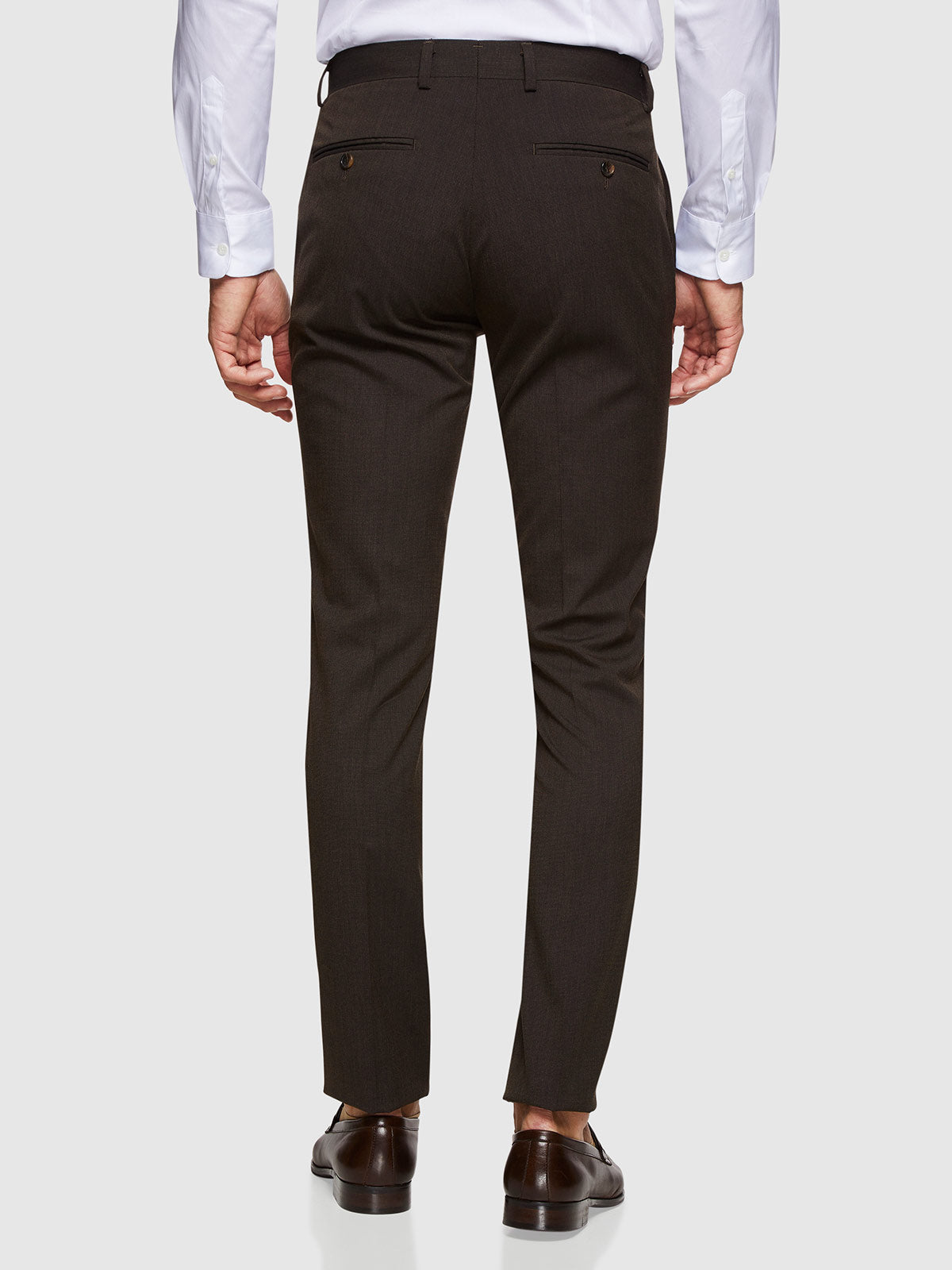 STRETCH TEXTURED TROUSERS