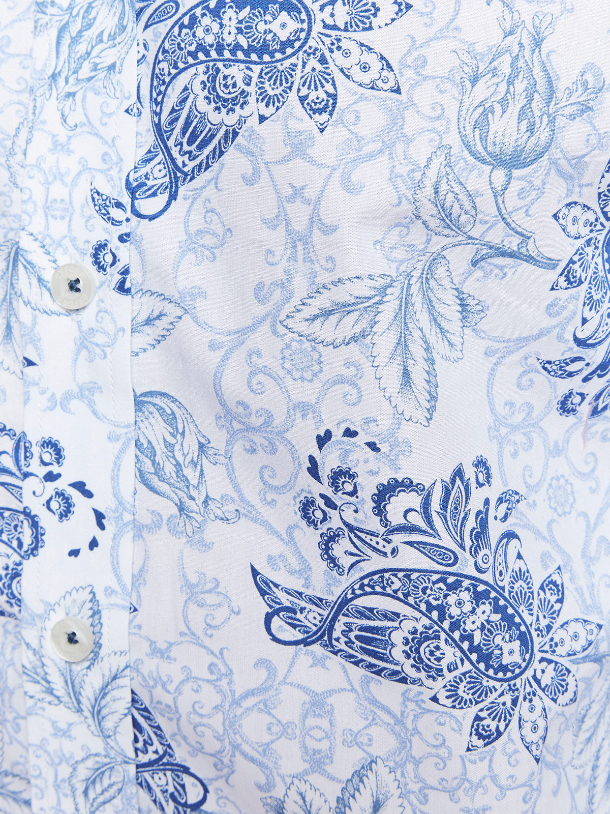 KENTON FLORAL PRINTED SHIRT BLUE