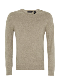 COTTON V-NECK KNIT