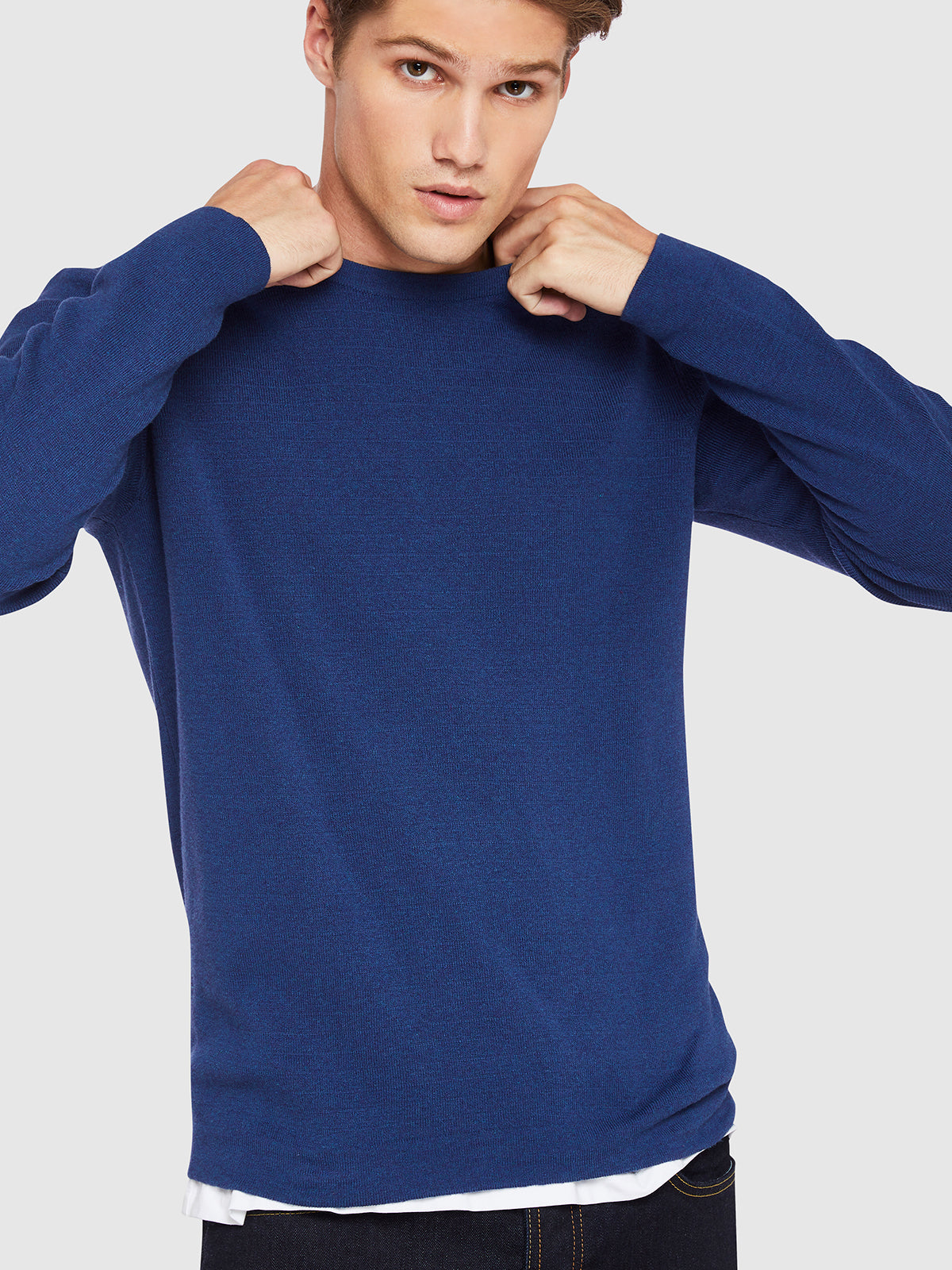 TIGER CREW NECK COTTON PULLOVER