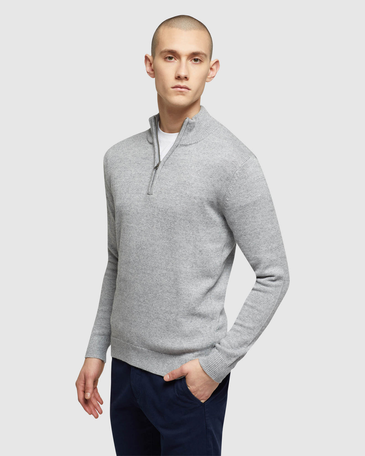 ROBERT ZIP NECK KNIT