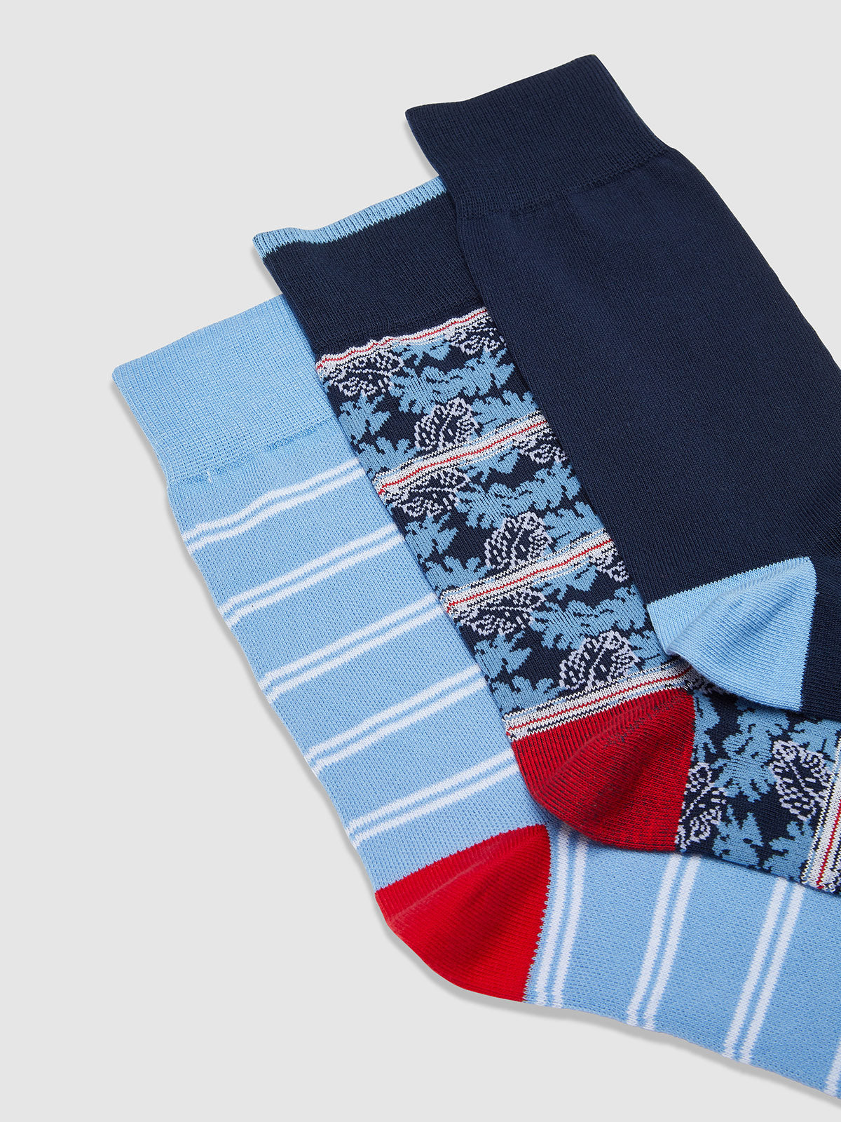 FROND 3 PACK SOCKS BLUE MULTI