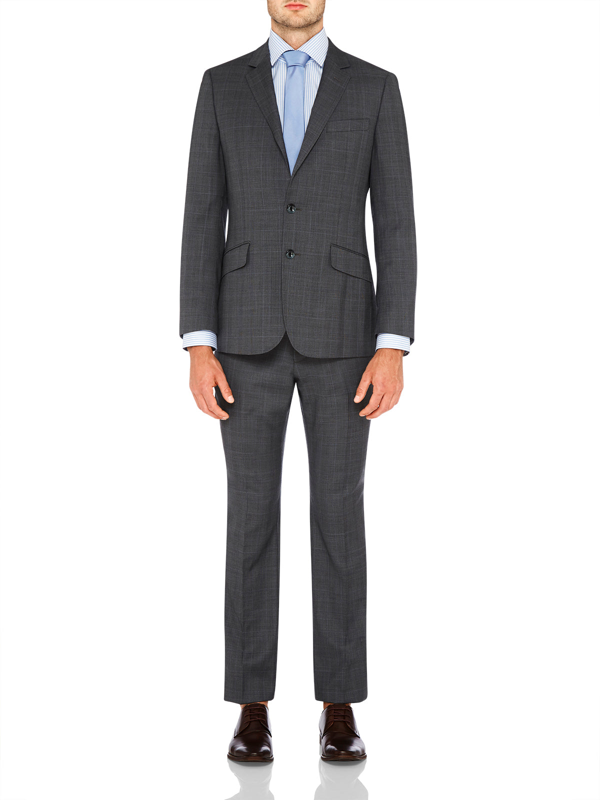 NEW HOPKINS LUX SUIT TROUSERS GRYX