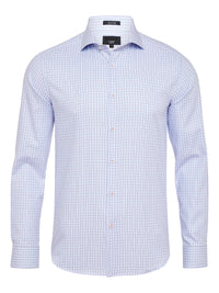 TRAFALGAR LUXURY SHIRT WHITE/SKY