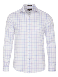 TRAFALGAR CHECKED LUXURY SHIRT PURPLE