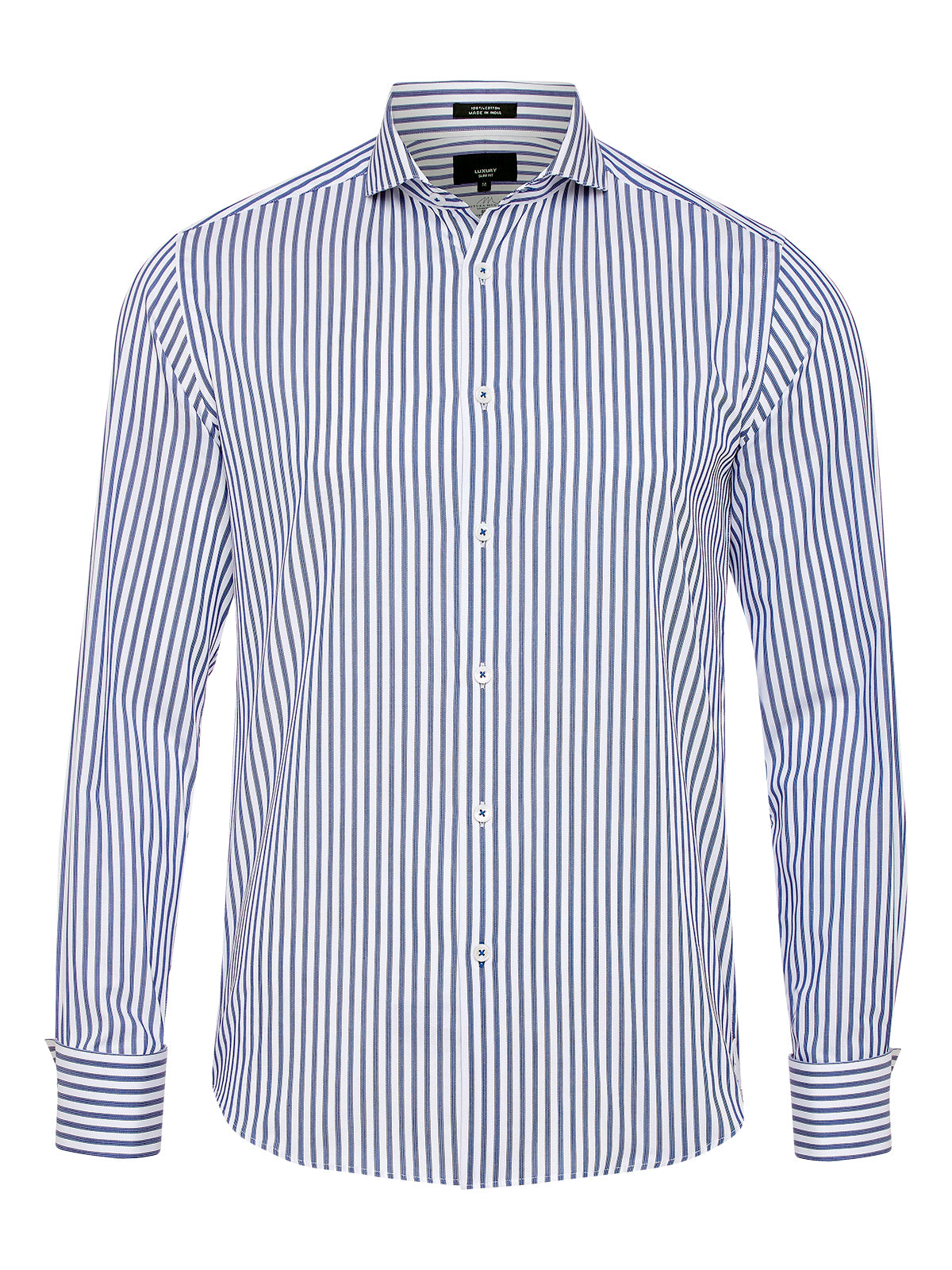 KENSINGTON F/C STRPE LUXURY SHIRT