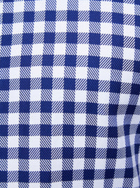 TRAFALGAR CHECKED LUXURY SHIRT BLUE