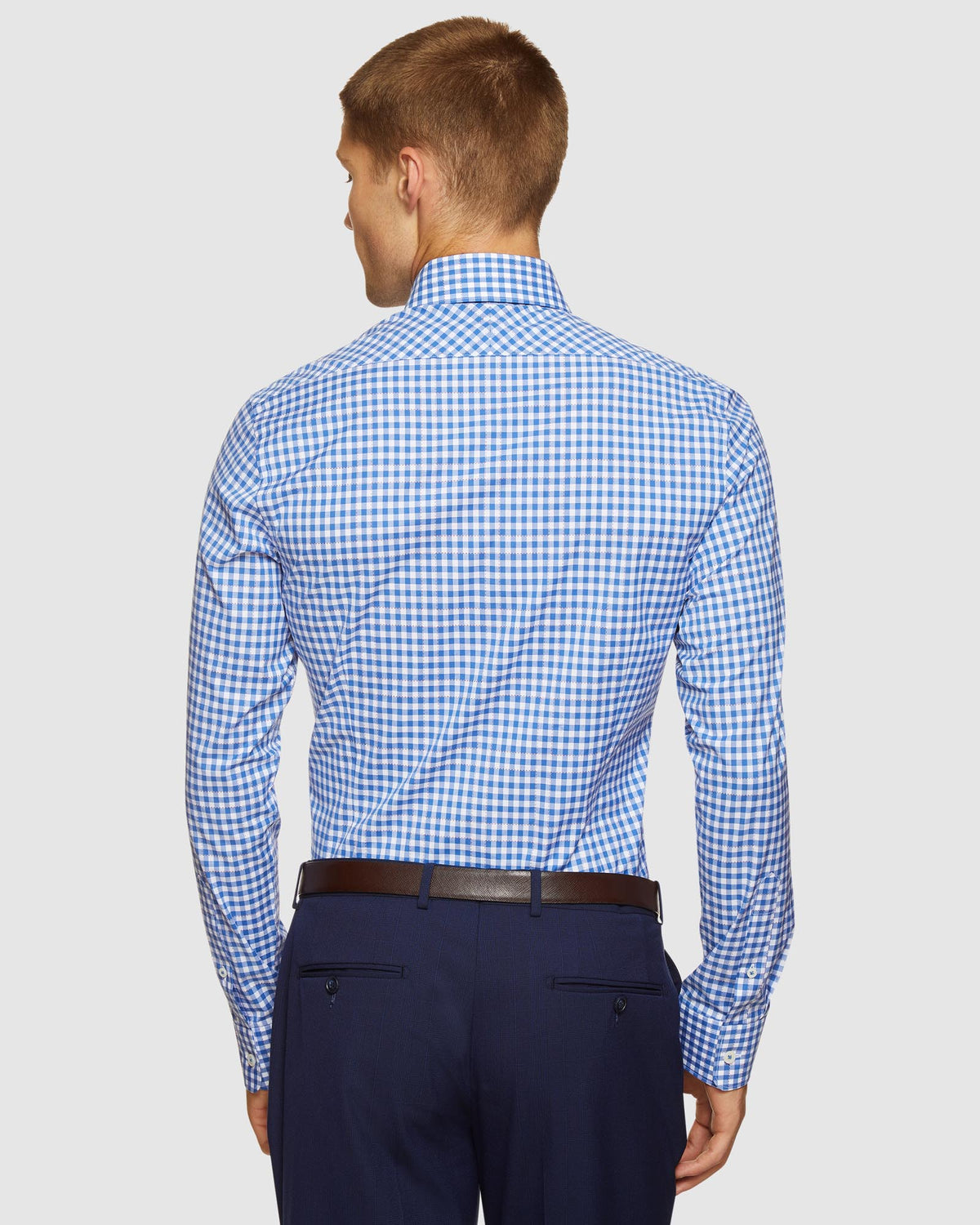 BECKTON CHECKED LUXURY SHIRT BLUE