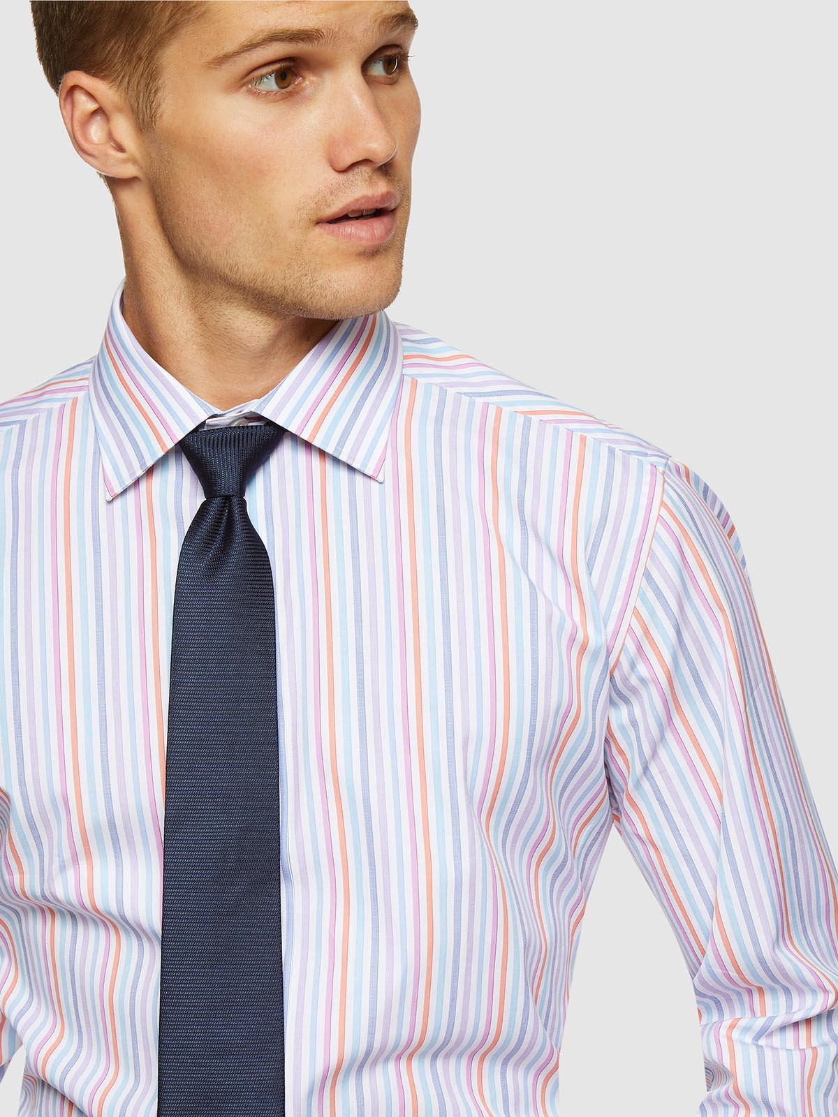BECKTON MULTI STRIPE LUXURY SHIRT MULTI