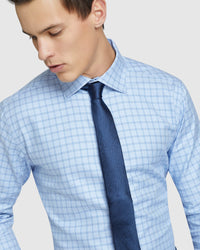 ISLINGTON DOBBY LUXURY SHIRT BLUE