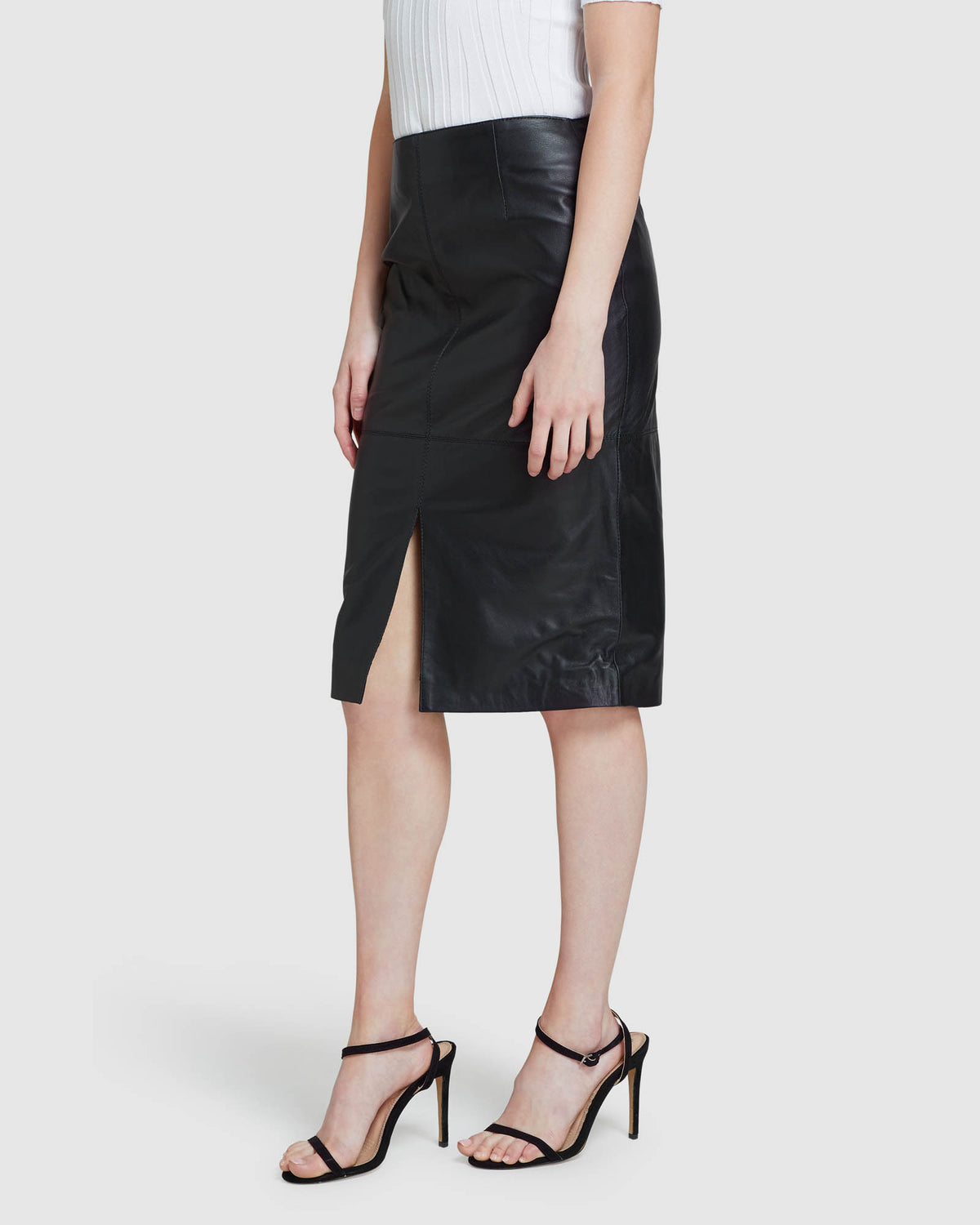 DARBY LEATHER PENCIL SKIRT