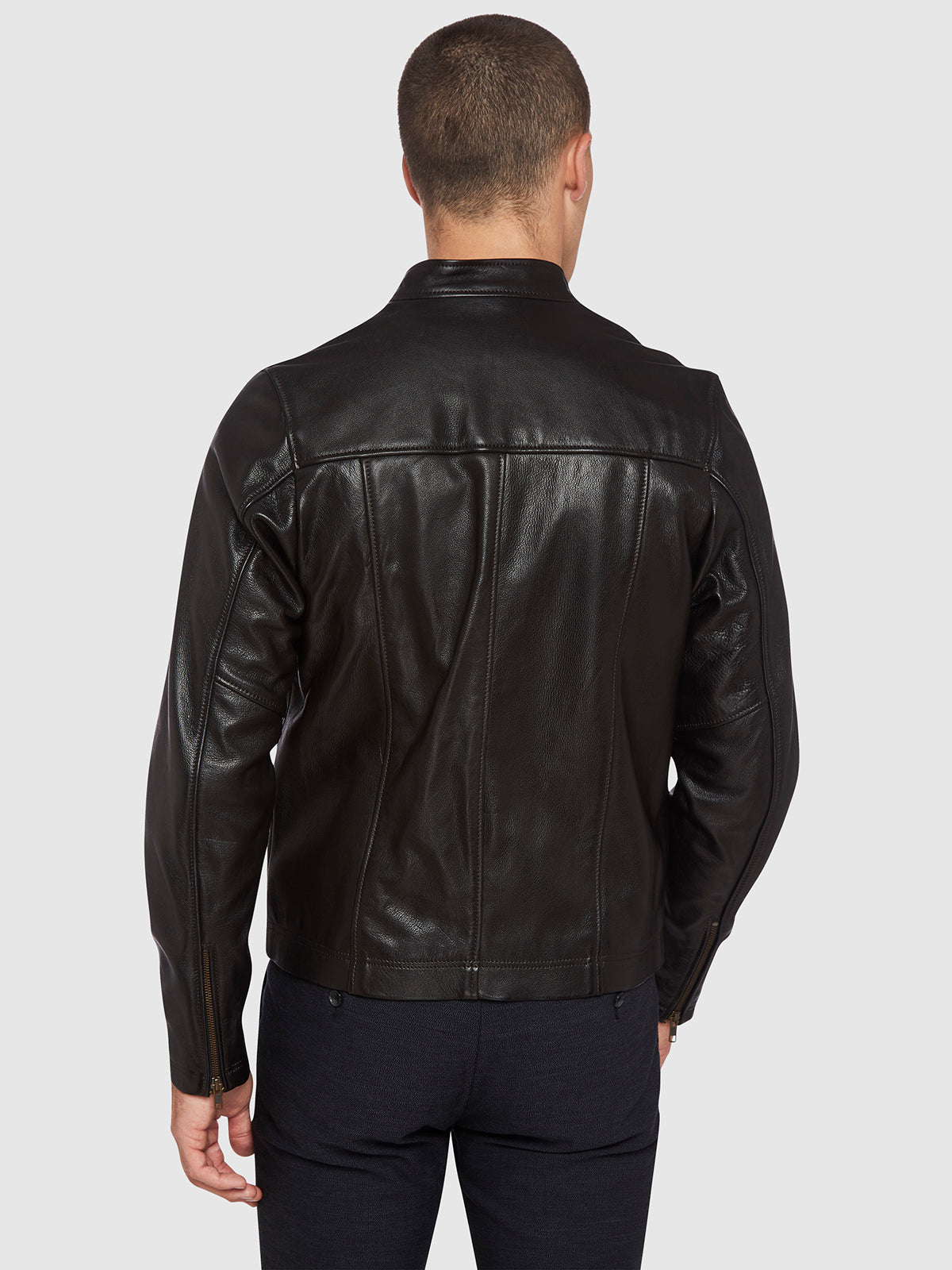 MICK LEATHER JACKET CHOCOLATE