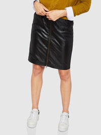 IZZY LEATHER SKIRT