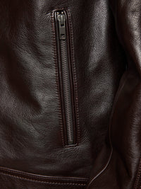 BOWIE LEATHER JACKET BROWN