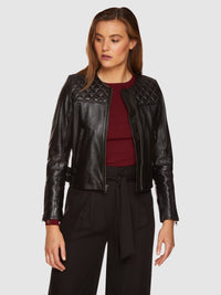 RIZZO LEATHER JACKET BLACK