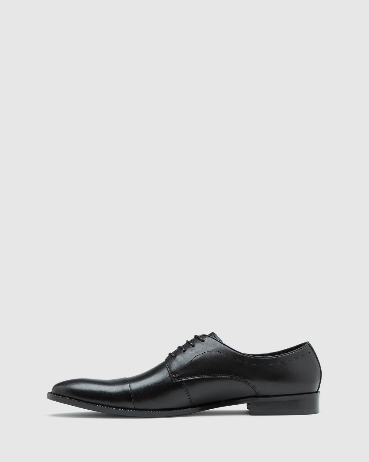 LEWIS LEATHER DERBY SHOE BLACK