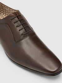 OLIVER LEATHER OXFORD SHOE DARK BROWN