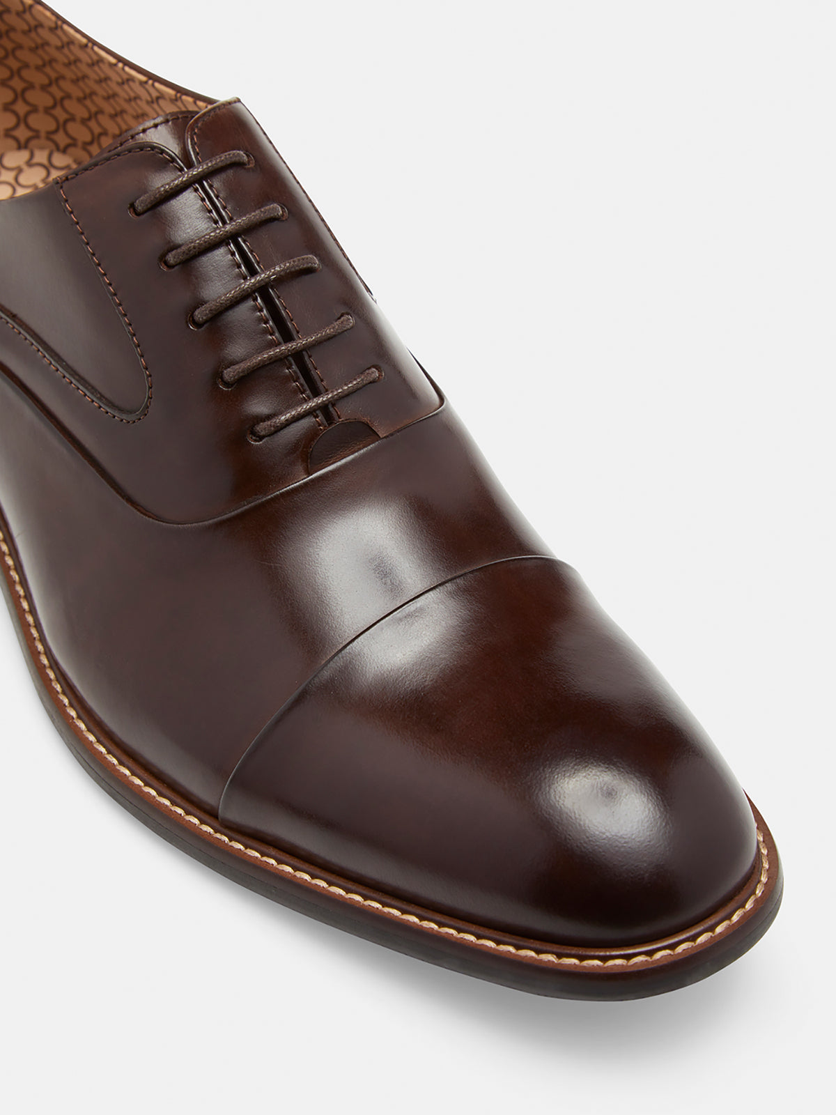 FRANK LEATHER OXFORD SHOES CHOCOLATE