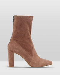 IMOGEN SUEDE SOCK BOOT TAN