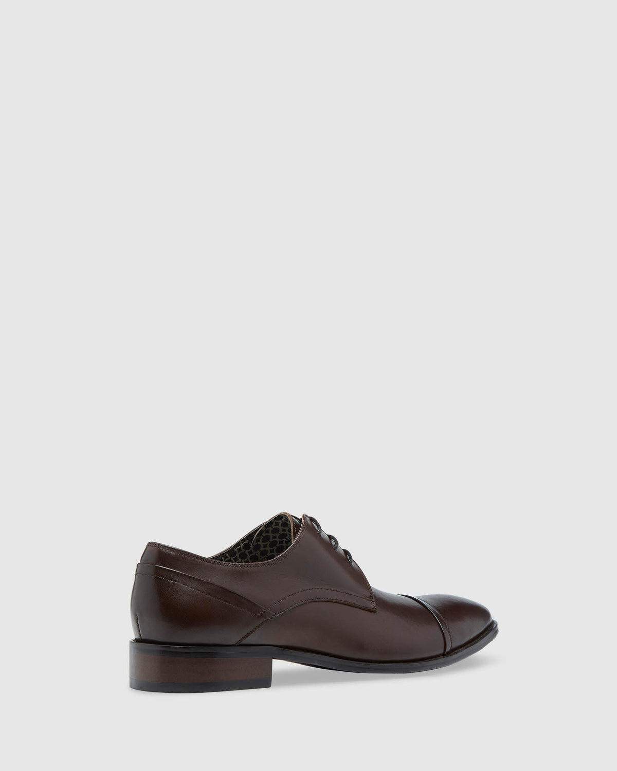 JASPER LEATHER DERBY SHOE MOCHA FENICIA