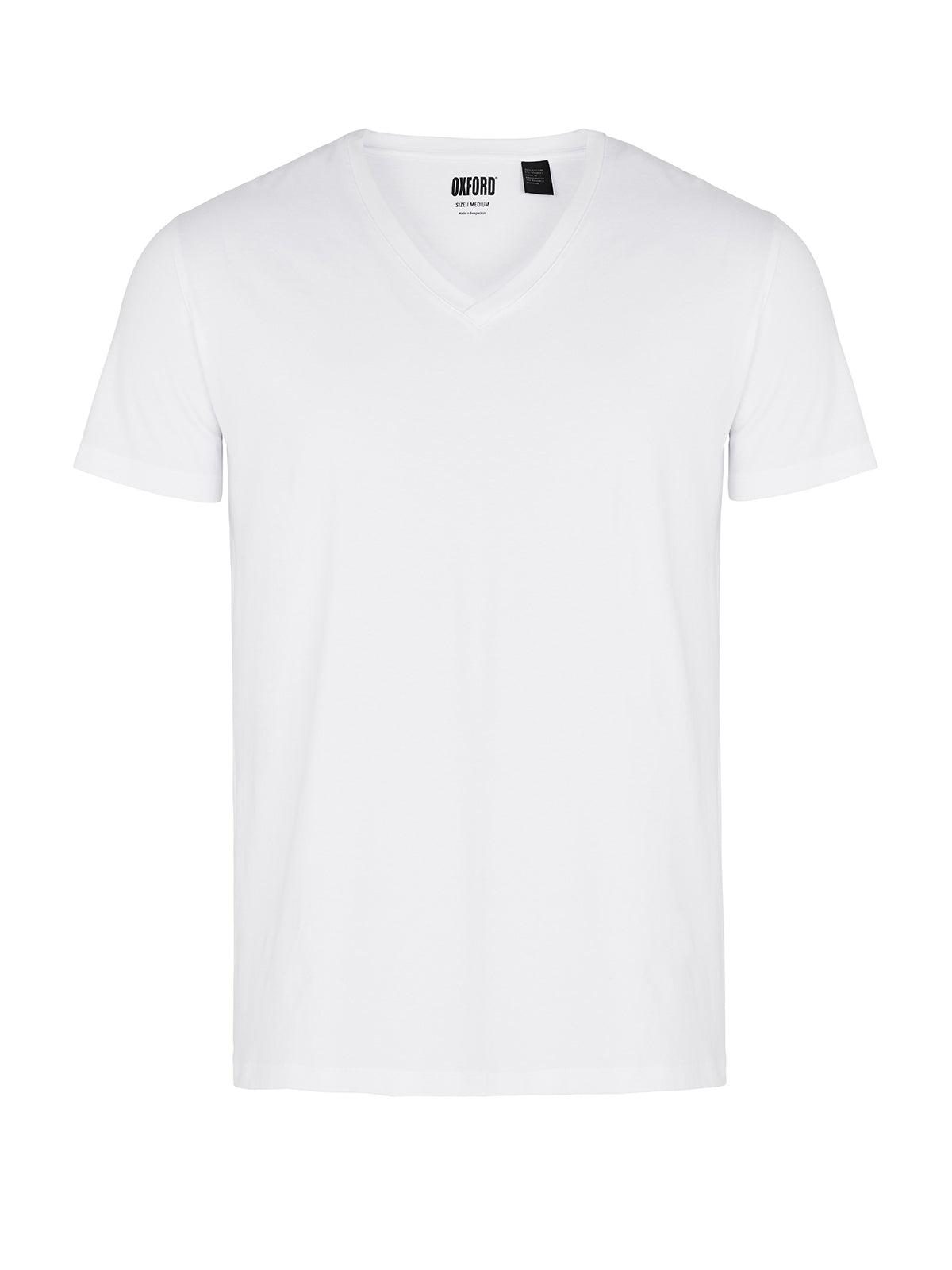 STRETCH V-NECK T-SHIRT WHITE