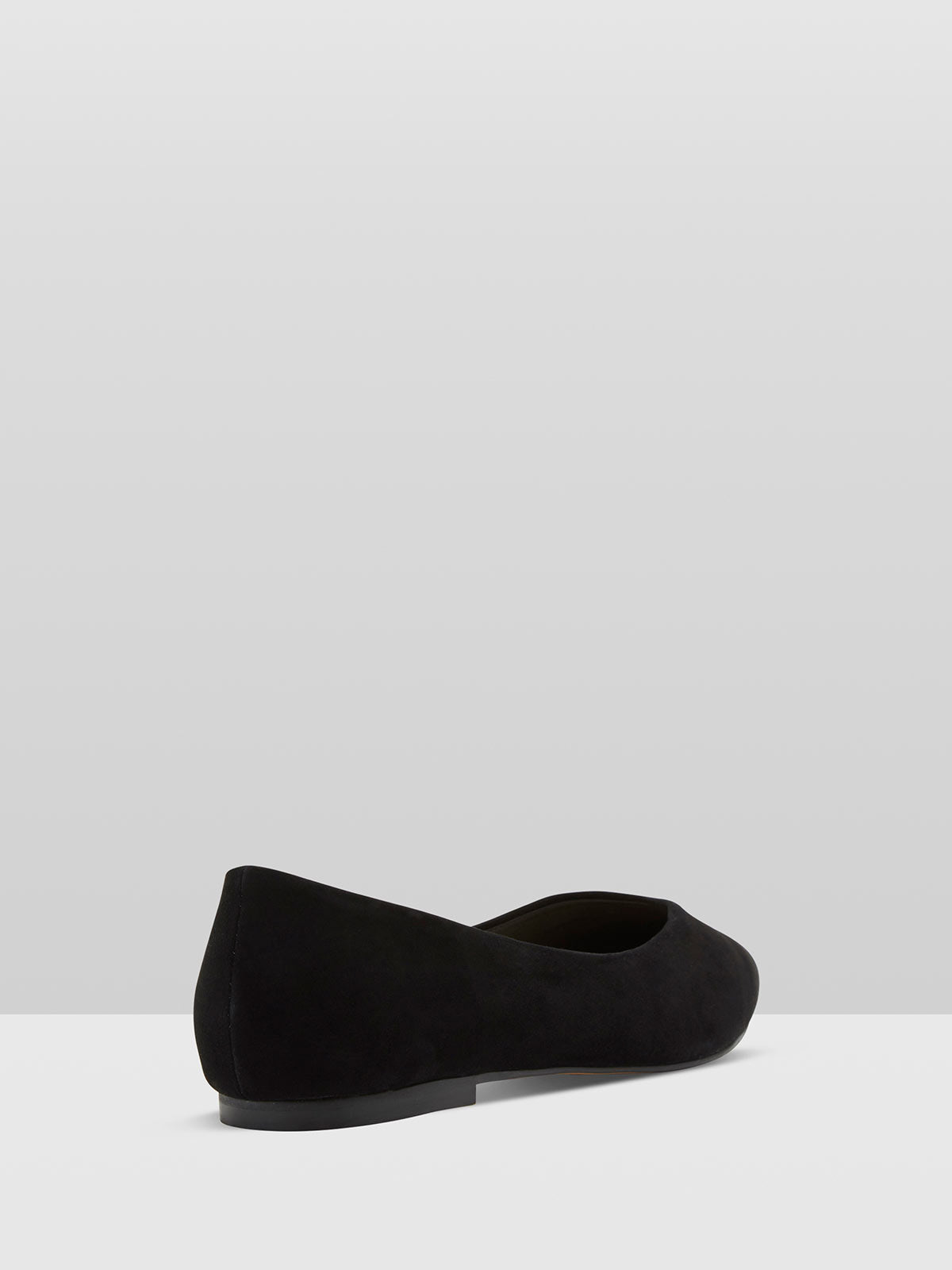 LOLA SUEDE FLAT SHOES BLACK