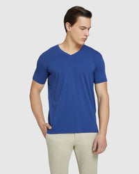 PETER STRETCH V-NECK T-SHIRT