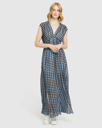 ARIA GEORGETTE MAXI DRESS BLUE