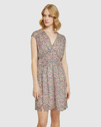 ARIALLA SPOT DRESS PINK MULTI