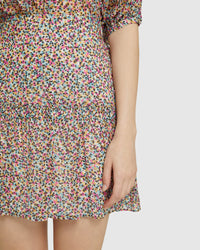 MARTINA SPOT SKIRT PINK MULTI