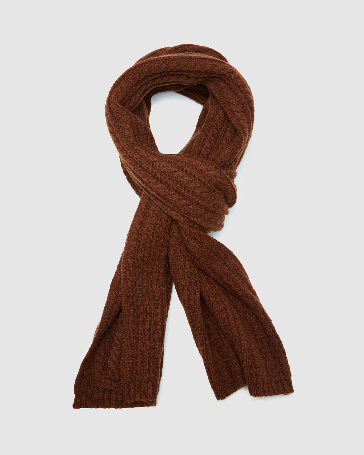 CORNELL CABLE SCARF GINGER