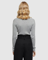 MARGOT CREW NECK KNIT GREY