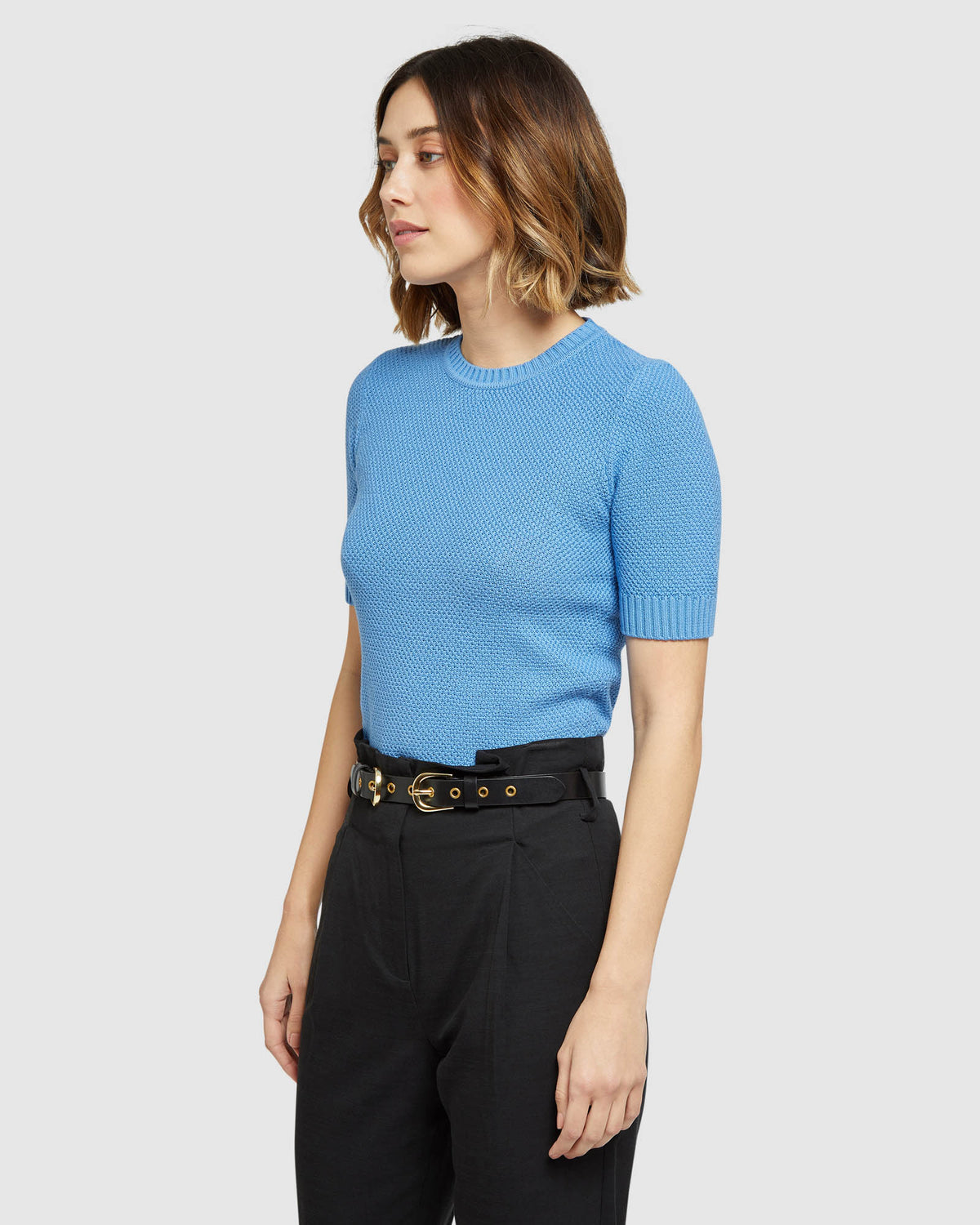 LUPA TEXTURED SHORT SLEEVE KNIT