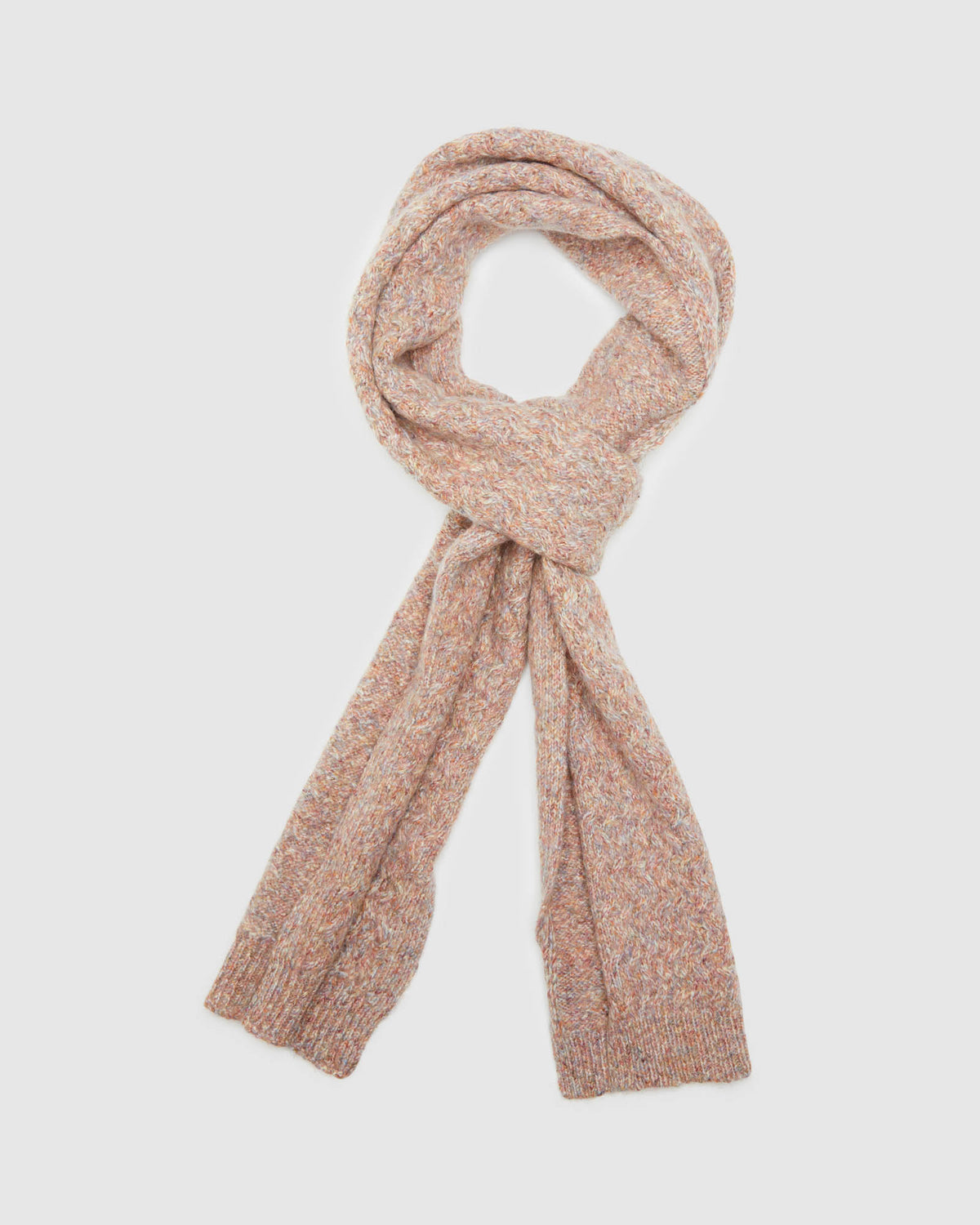 EVELYN CABLE SCARF PINK