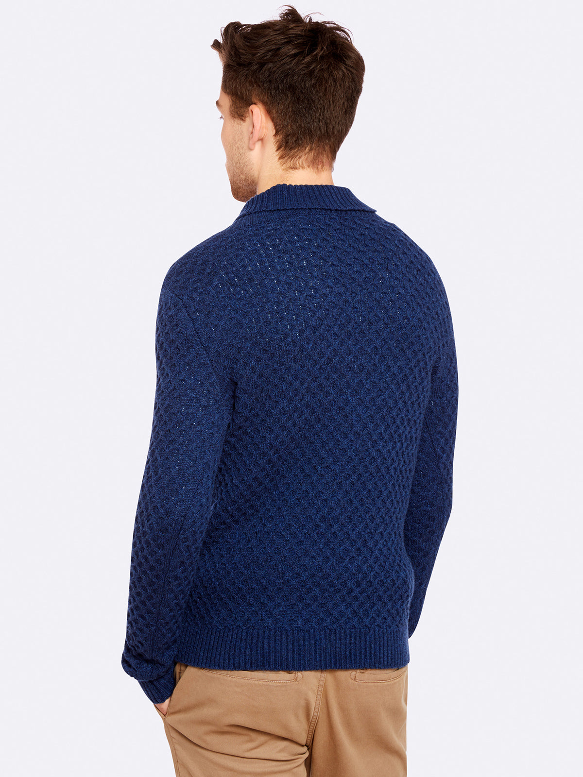 FERGUSON SHAWL COLLAR KNIT