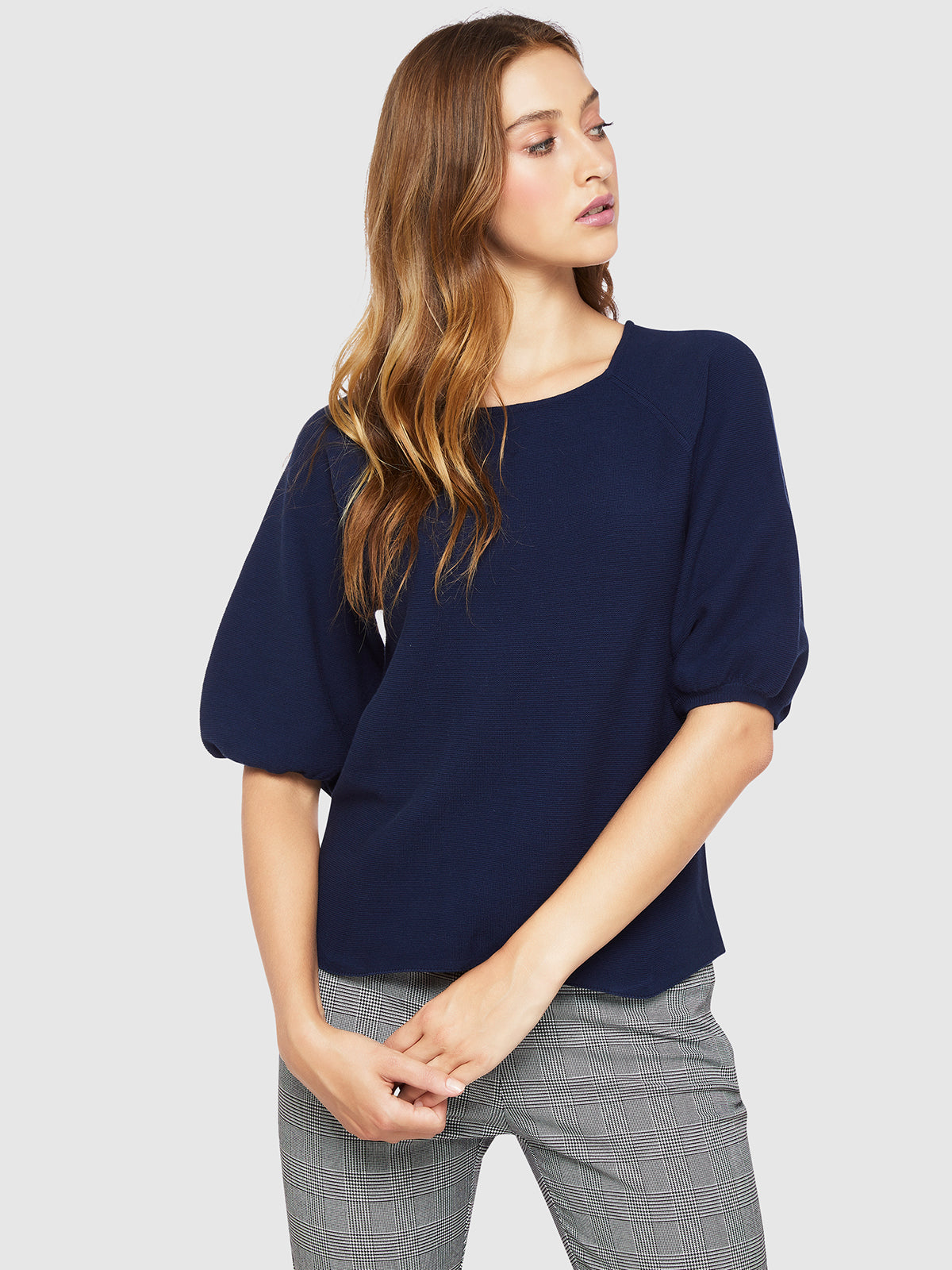 ALLY BUBBLE SLEEVE KNIT