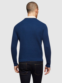 ADRIAN TEXTURED TIPPING V-NECK KNIT