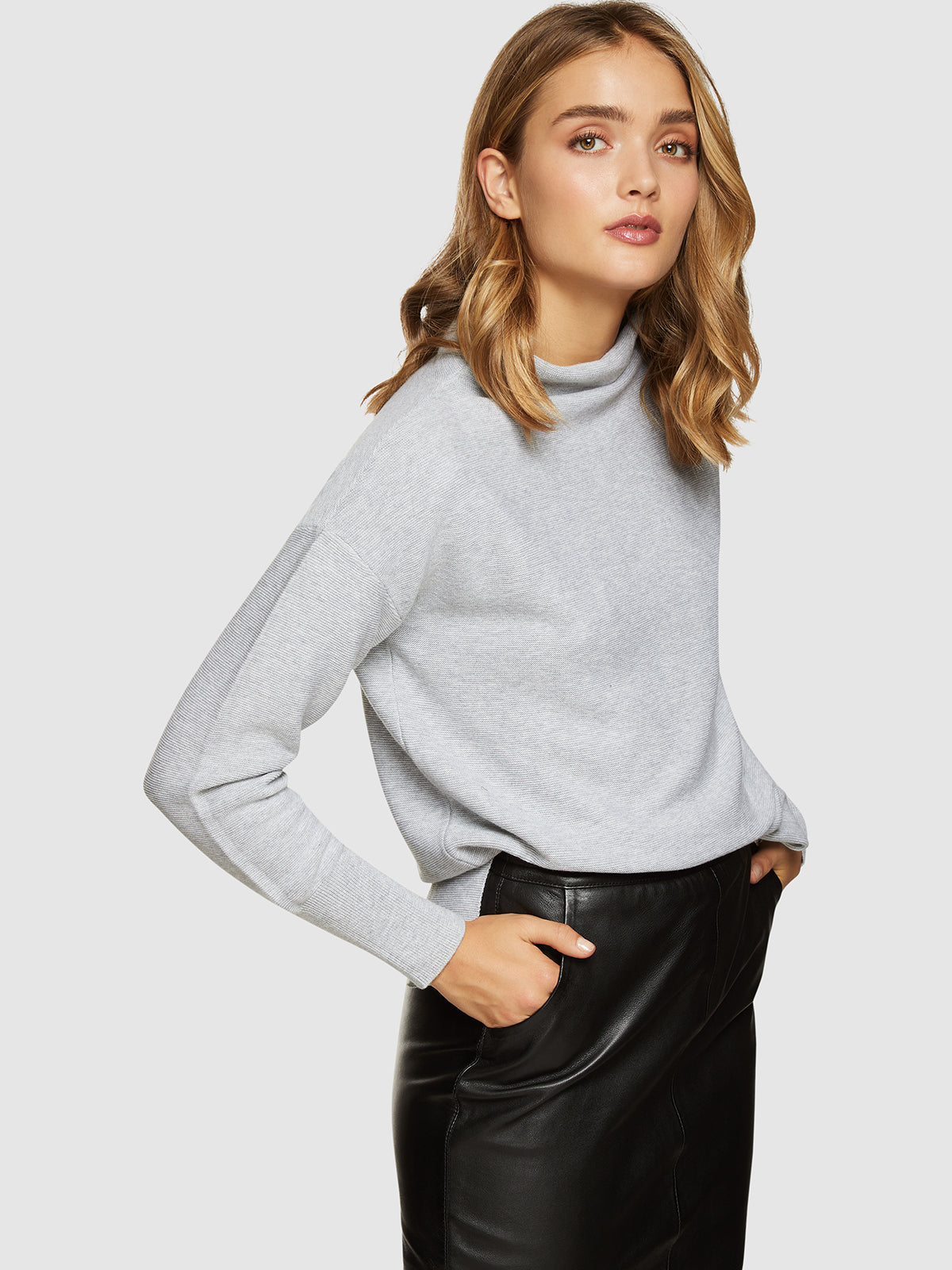 PAULA FUNNEL COLLAR KNIT