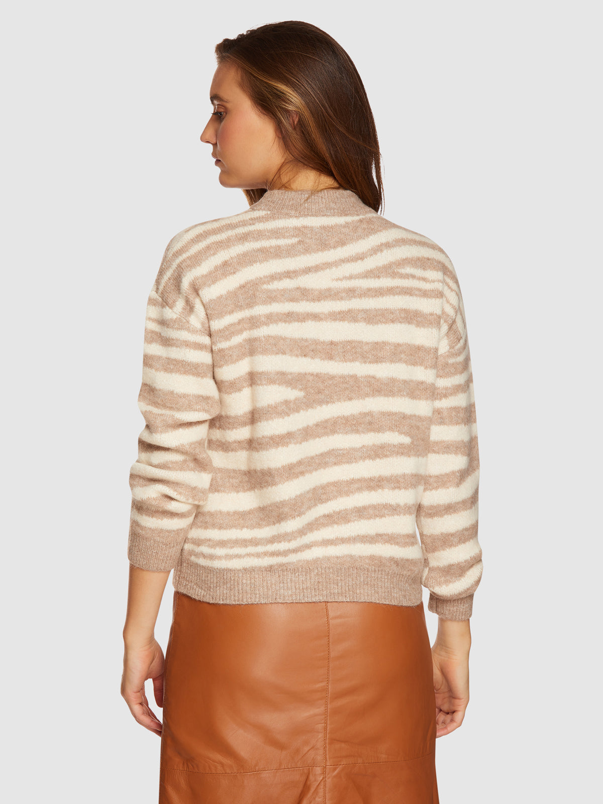 CAMILLA ZEBRA KNIT NATURAL