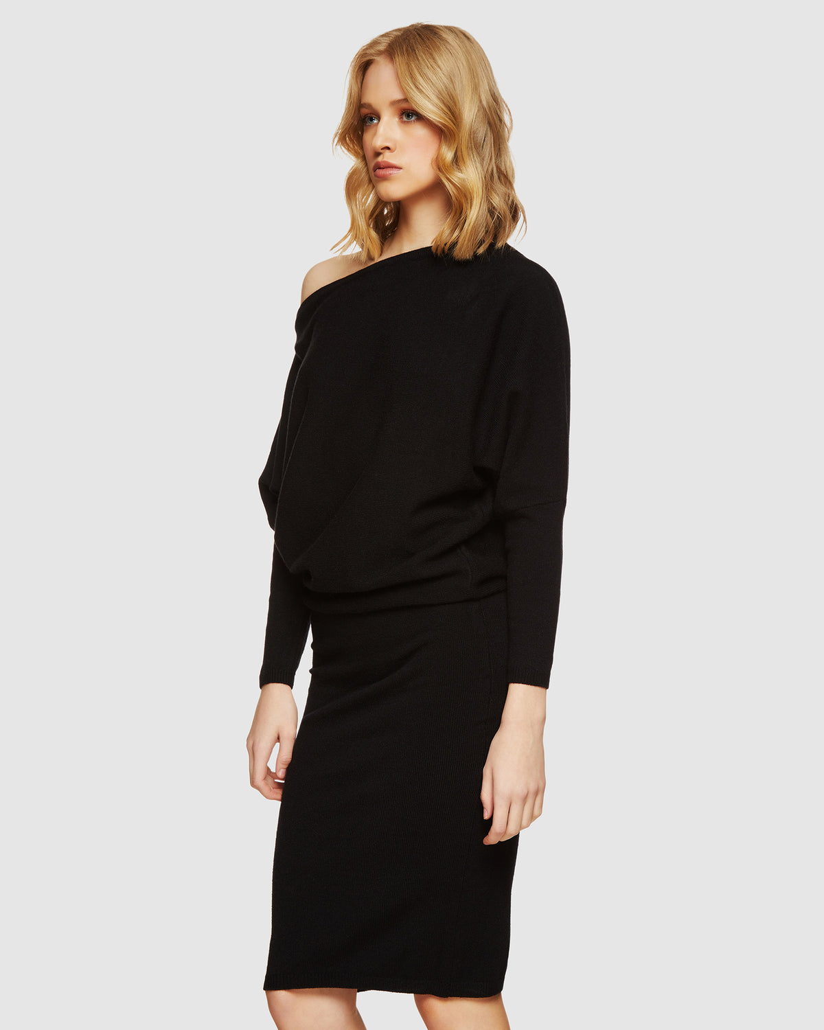 EMMA KNITTED BOATNECK DRESS