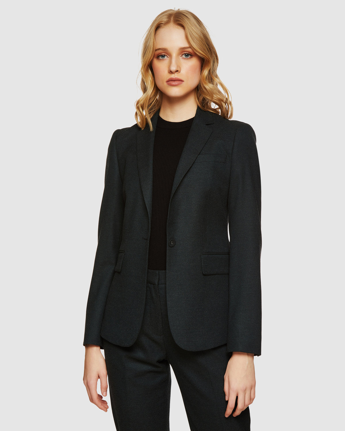 ALEXA ECO SUIT JACKET FOREST