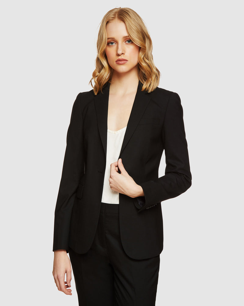 ALEXA WOOL SUIT JACKET BLACK