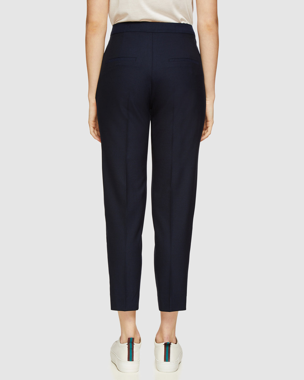 CHARLA WOOL SUIT TROUSERS NAVY
