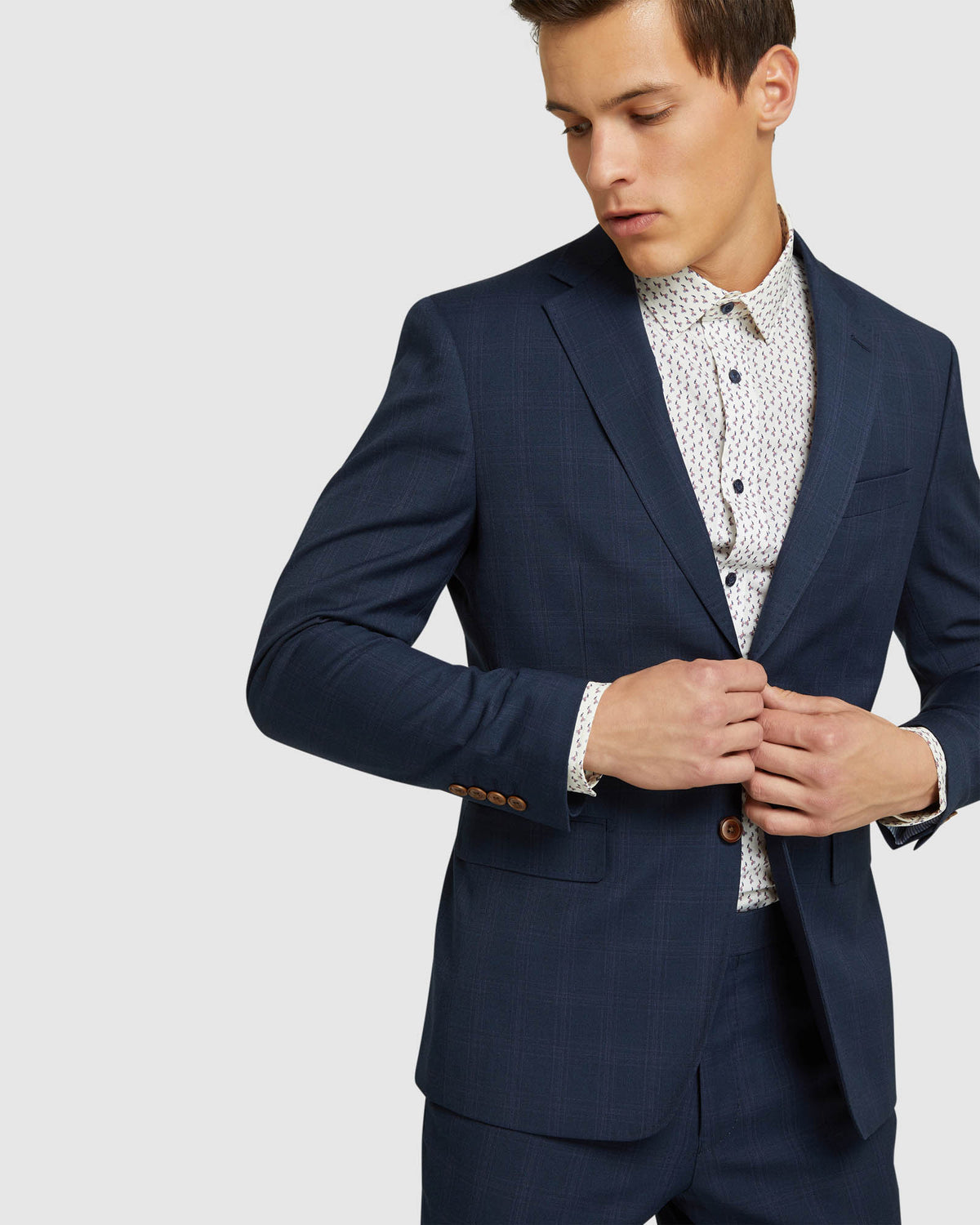 BYRON ECO CHECKED SUIT JACKET