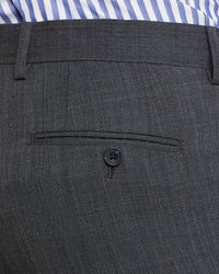 BYRON WOOL STRETCH SUIT TROUSERS CHARCOAL