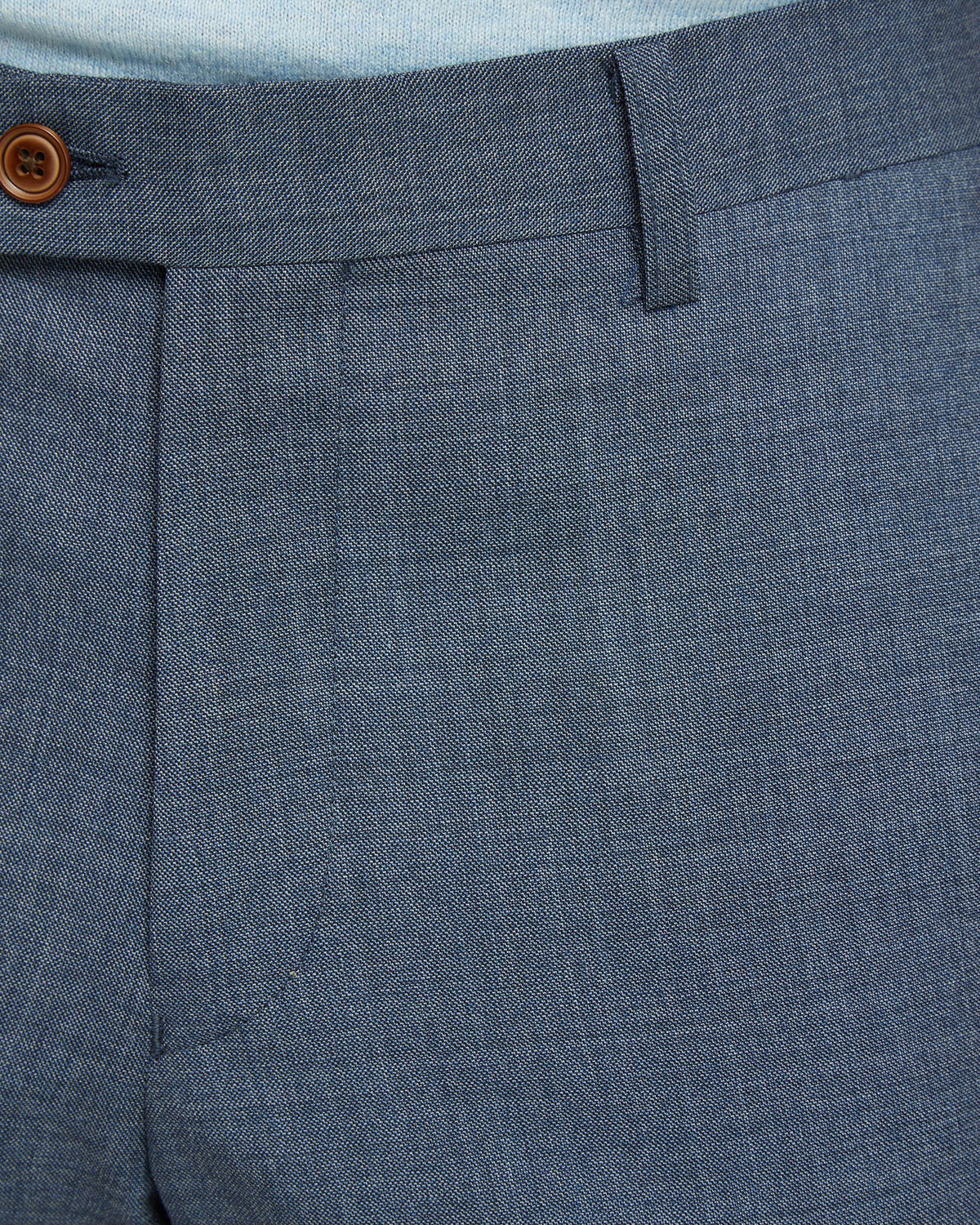 NEW HOPKINS WOOL SUIT TROUSERS BLUE