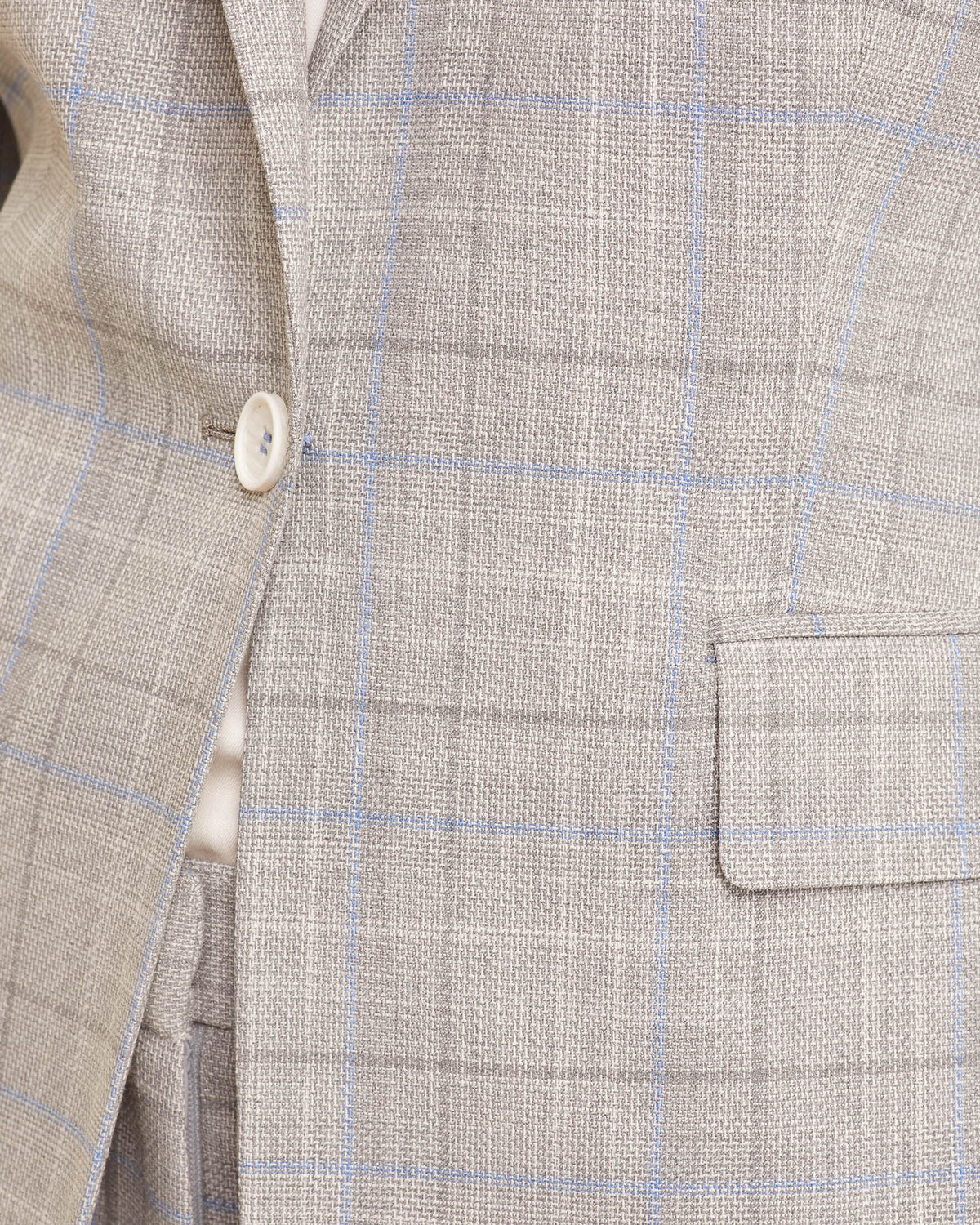 ALEXA ECO CHECK SUIT JACKET GREY/BLUE CHECK