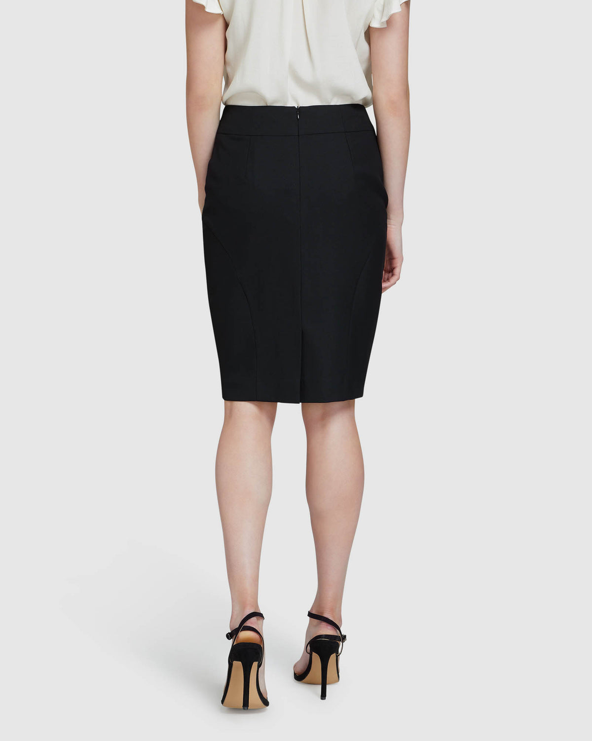 MONROE ECO SUIT SKIRT BLACK
